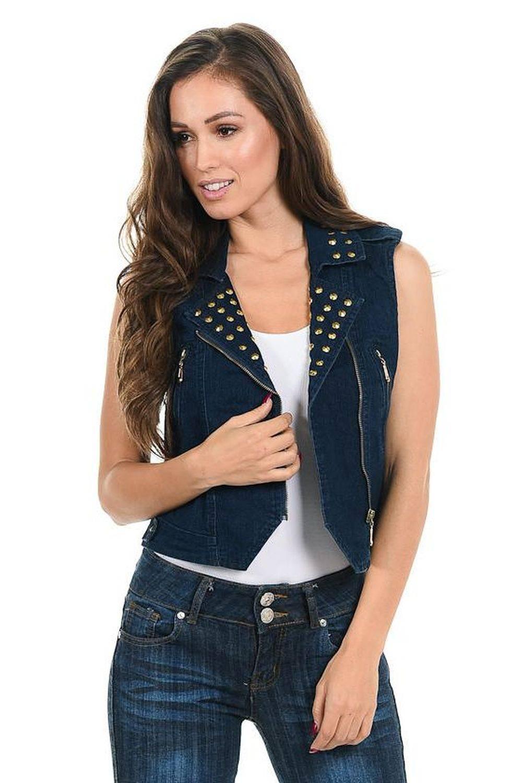 100% authentique nouvelles promotions code promo M.Michel Women's Denim Vest · Style 428B