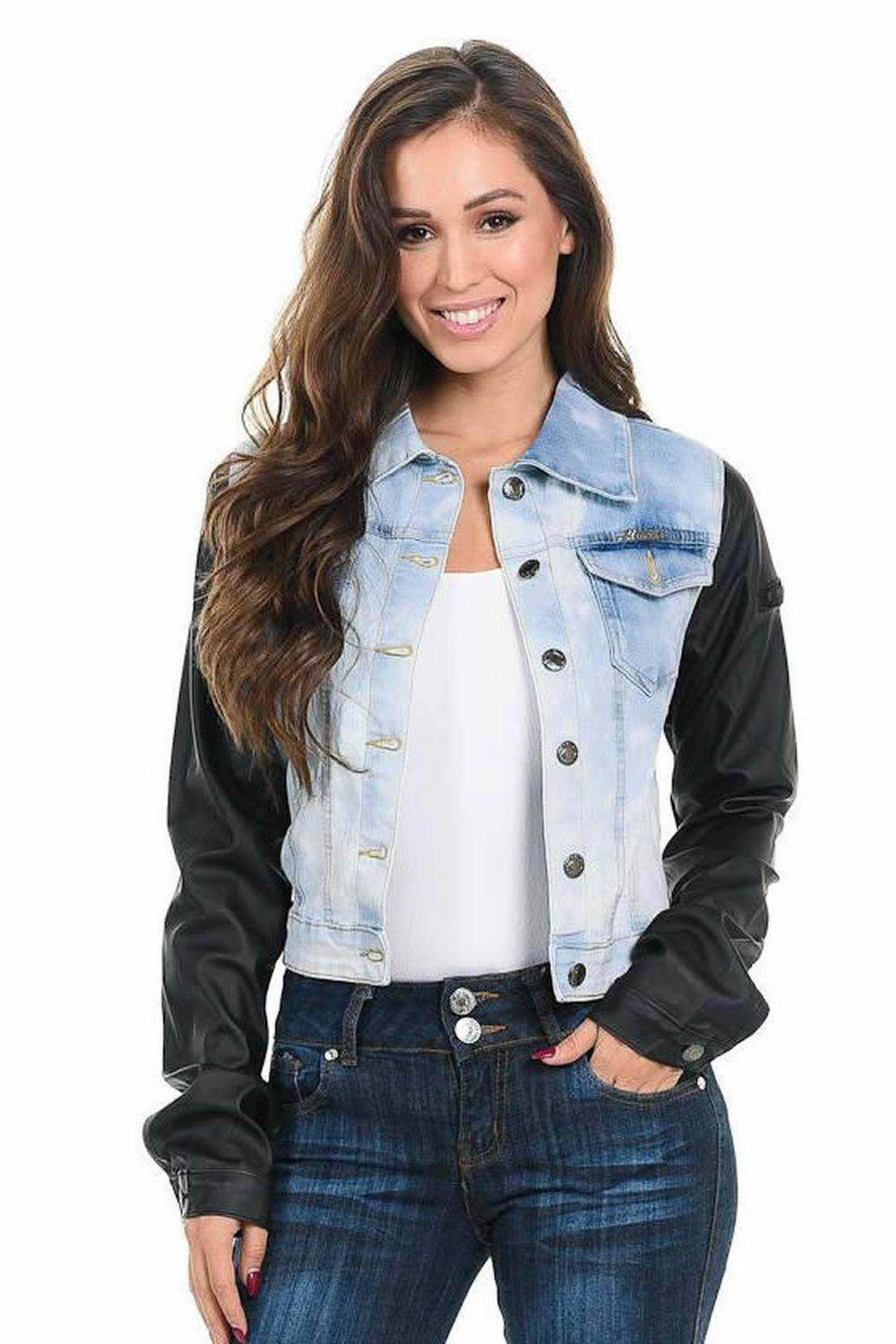 where to buy soft and light good quality M.Michel Women's Denim Jacket · Style 492