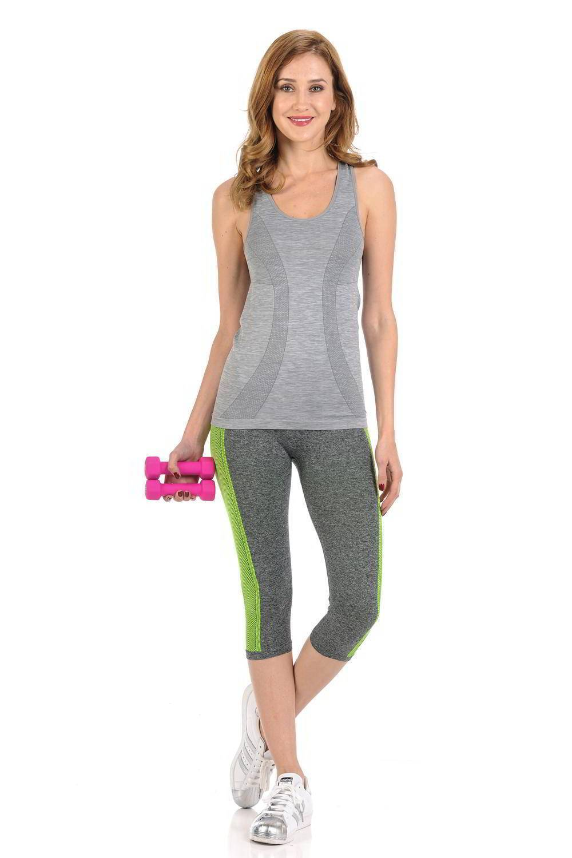 6bb45ca597762 Diamante Women's Power Flex Yoga Pant Legging Sportswear · Style ACDN003