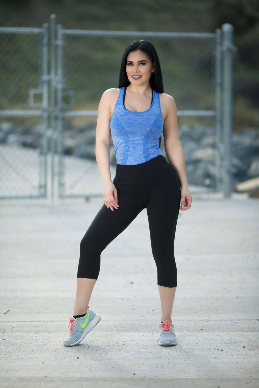 dc6f0f295aa99 Diamante Women's Power Flex Yoga Pant Legging Sportswear · Style B78