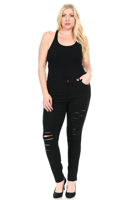 926 Women's Jeans - Plus Size - High Waist - Push Up - Style BQ6004A
