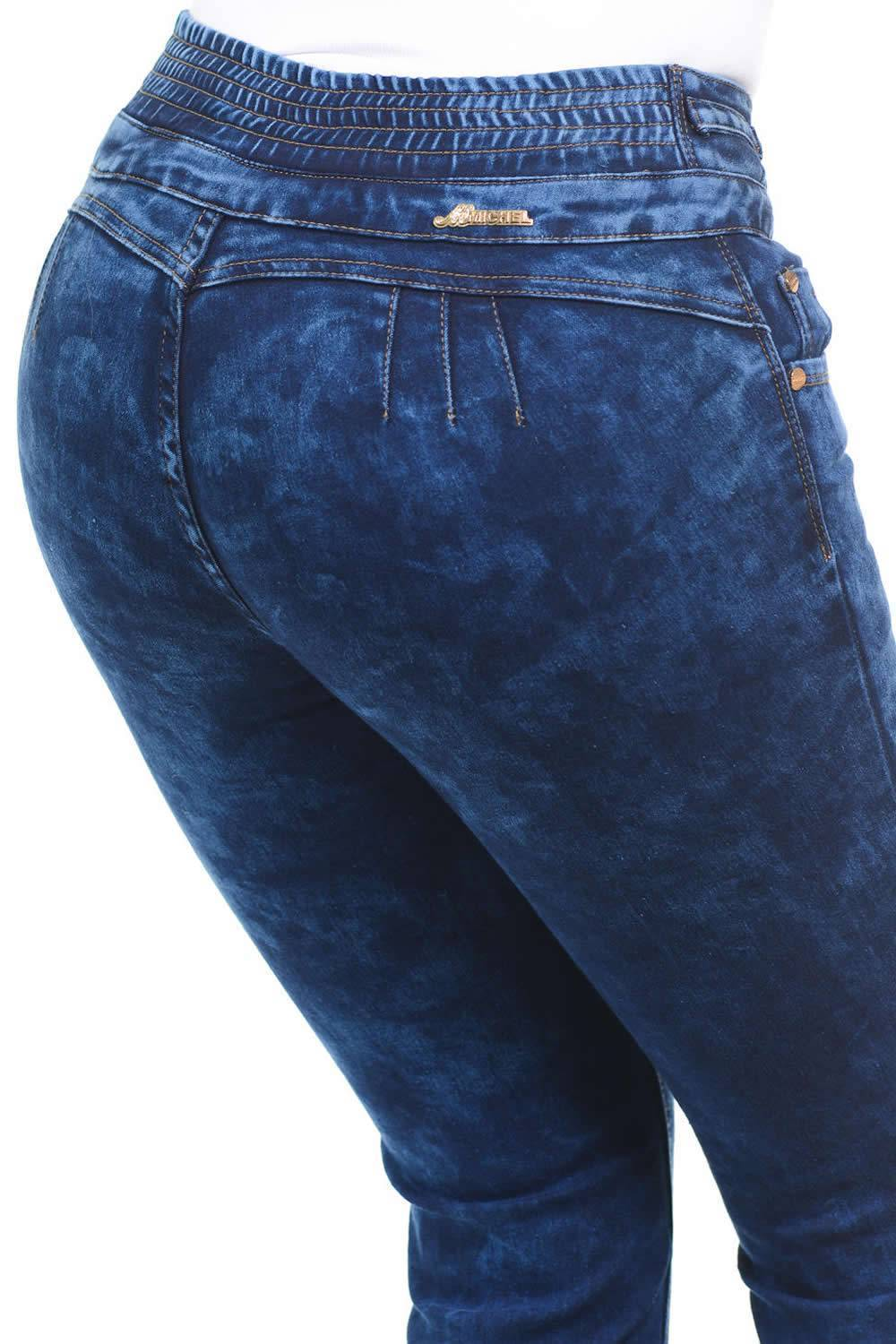Colombian Design Jean Buttlift Pant Jeans levantacola Skinny Push Up 118