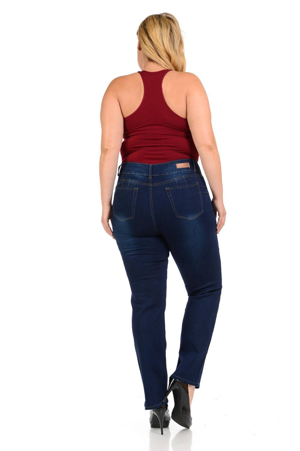Pasion Plus Size High Waist Missy Up Jeans