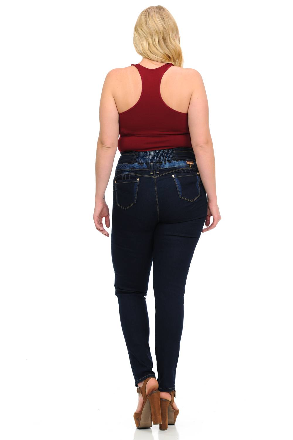 M.Michel Missy Size High Waist Missy Up Jeans