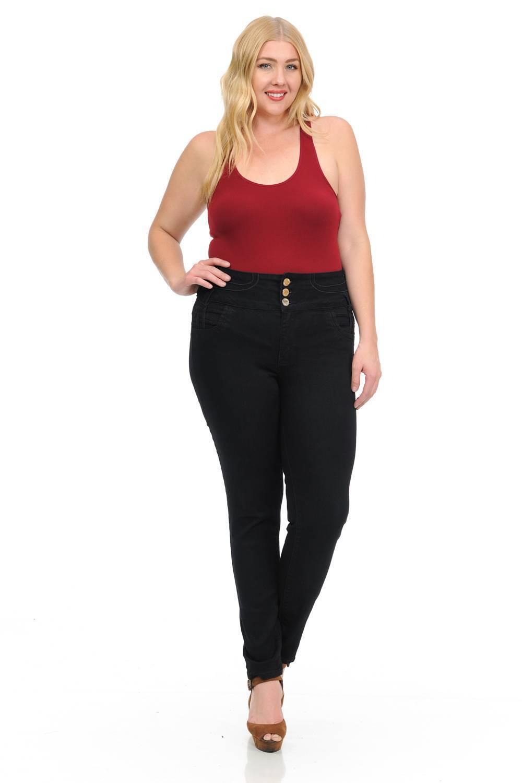 M.Michel Missy Size High Waist Missy Up Jeans