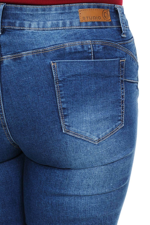 Studio Alpha Plus Size High Waist Push Up Jeans