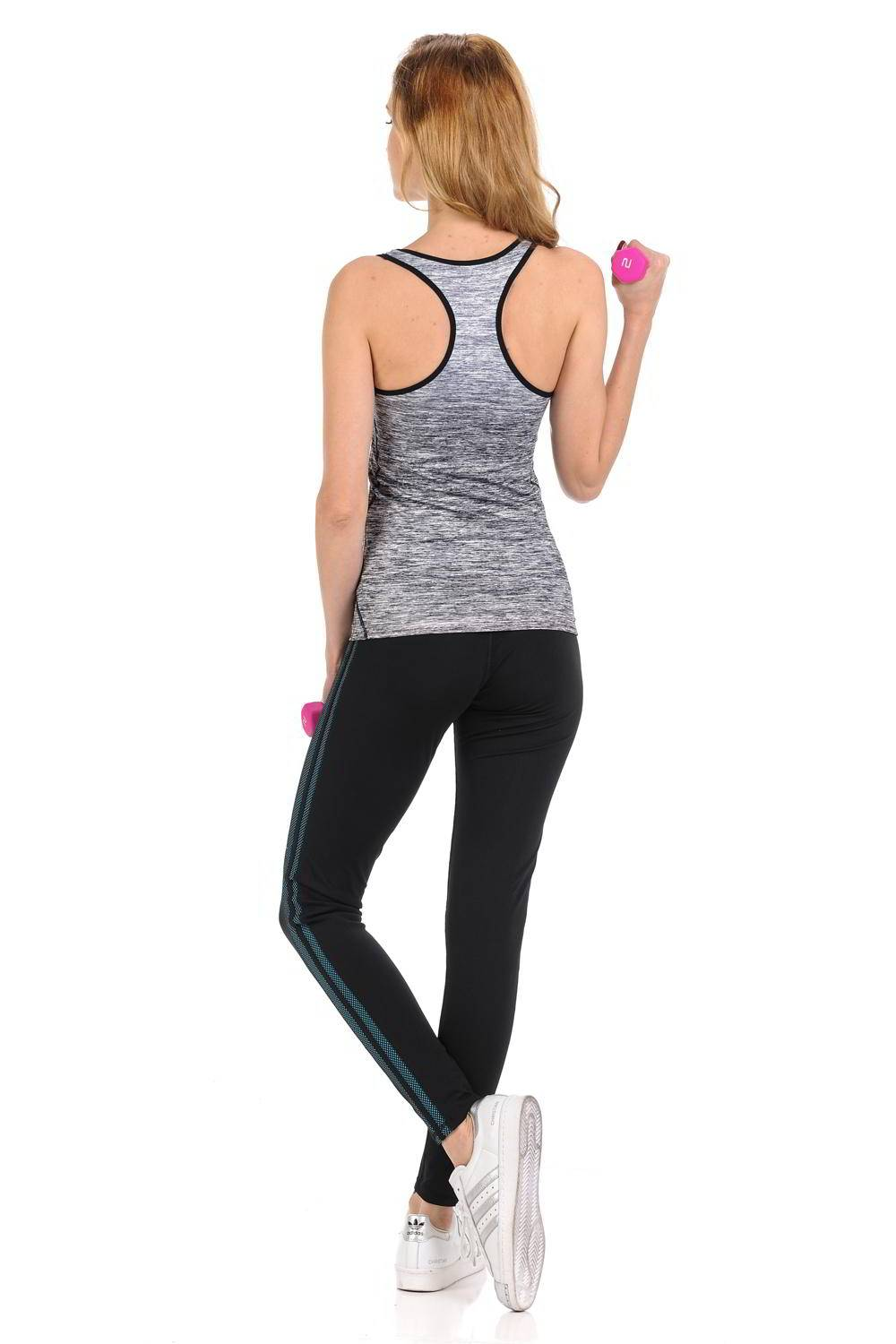 Diamante Women's Power Flex Yoga Pants Leggings Sportswear