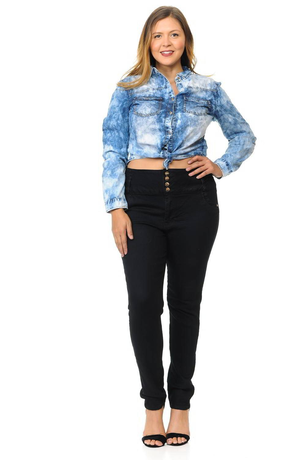 M.Michel Plus Size High Waist Push Up Jeans