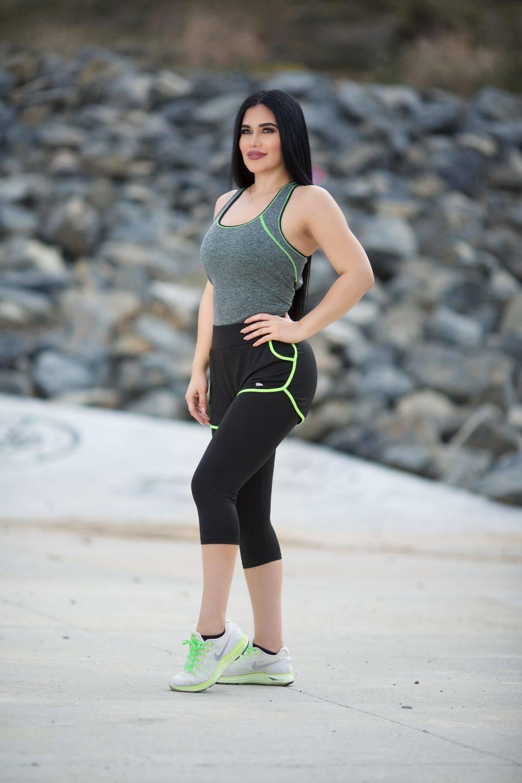 4aafb6f323d18 Diamante Women's Power Flex Yoga Pant Legging Sportswear · Style C295
