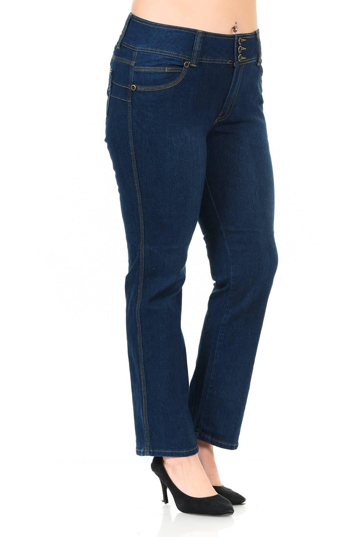 Diamante Plus Size High Waist Push Up Jeans