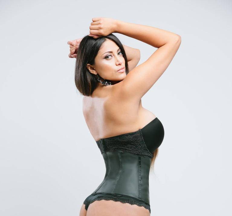 Sweet Look Women's Latex Sport Girdle Waist Training Corset Waist Body Shaper