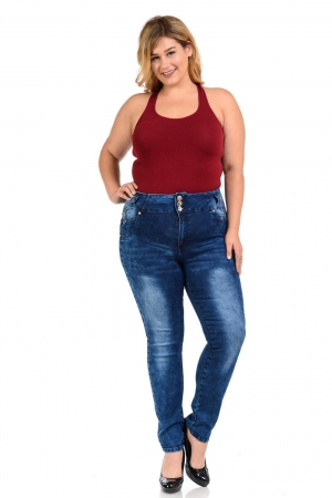 M.Michel Plus Size High Waist Push Up Jeans