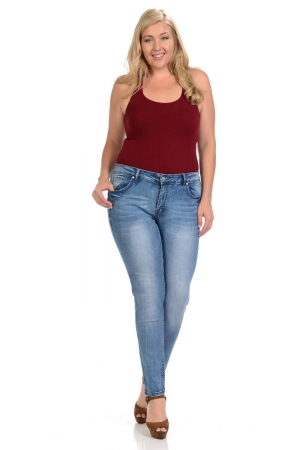 Sweet Look Plus Size High Waist Push Up Jeans