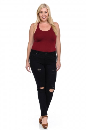 Pasion Plus Size High Waist Push Up Jeans