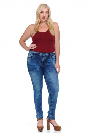 Studio Omega Plus Size High Waist Push Up Jeans