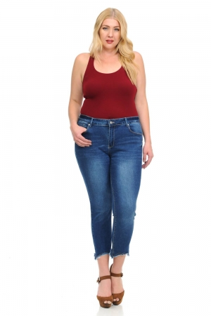 Studio Alpha Plus Size High Waist Push Up Jeans