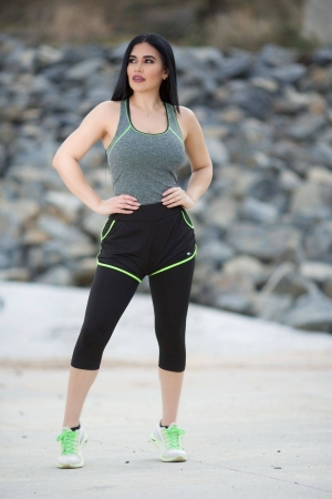 Diamante Yoga Capri Pants
